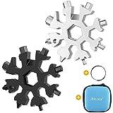 Aitsite 18-in-1 Snowflake Multi Tool Stainless Portable Steel Multi-Tool (Silver & Black)