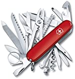 Victorinox Swiss Army Multi-Tool, SwissChamp Pocket Knife, Red, 91 mm (1.6795)